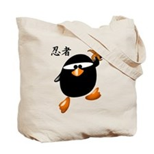 Ninja Penguin Tote Bag