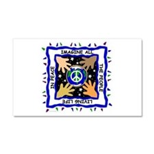Hands of Peace Car Magnet 20 x 12