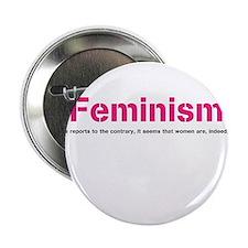 """Cute Liberal woman 2.25"""" Button"""