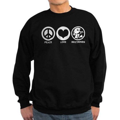 Peace Love Beethoven Sweatshirt (dark)