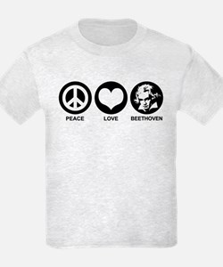 Peace Love Beethoven T-Shirt