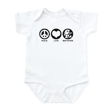 Peace Love Beethoven Infant Bodysuit