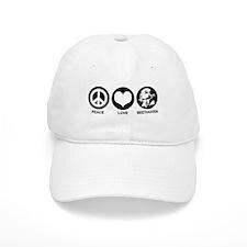 Peace Love Beethoven Baseball Cap