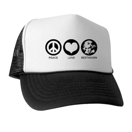 Peace Love Beethoven Trucker Hat