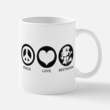Peace Love Beethoven Mug