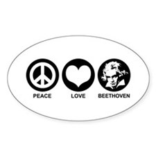 Peace Love Beethoven Decal