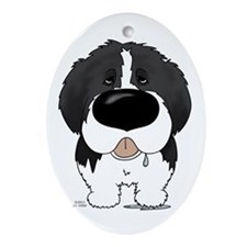 Big Nose Newfie Ornament (Oval)