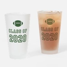 Class Of 2020 Football Drinking Glass