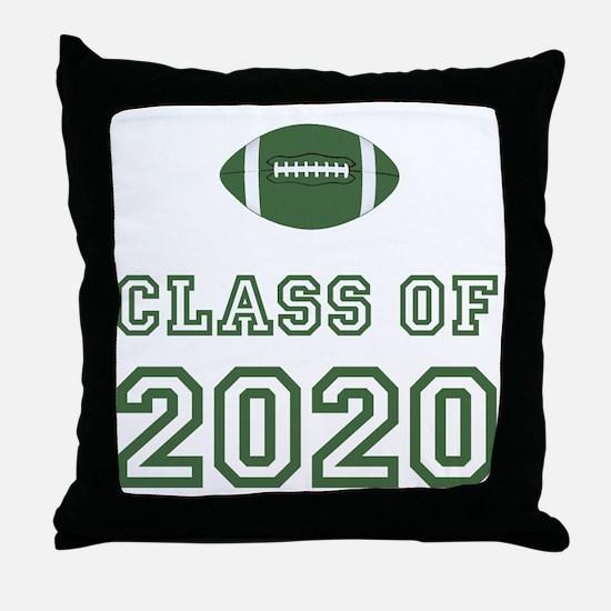 Class Of 2020 Football Throw Pillow