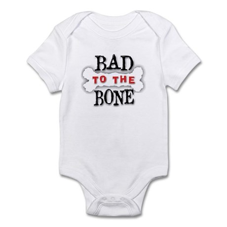 Bad To The Bone Infant Creeper