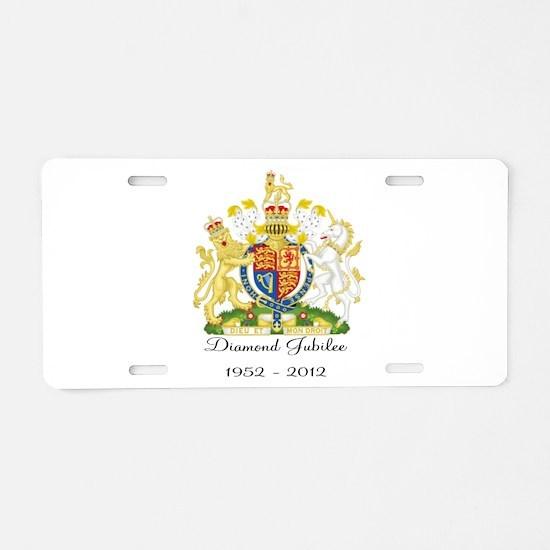 Diamond Jubilee Design Aluminum License Plate