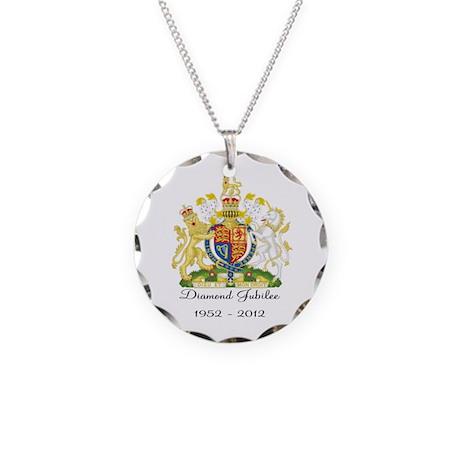 Diamond Jubilee Design Necklace Circle Charm