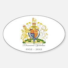 Diamond Jubilee Design Sticker (Oval)