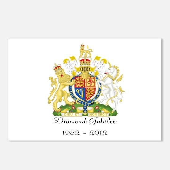 Diamond Jubilee Design Postcards (Package of 8)