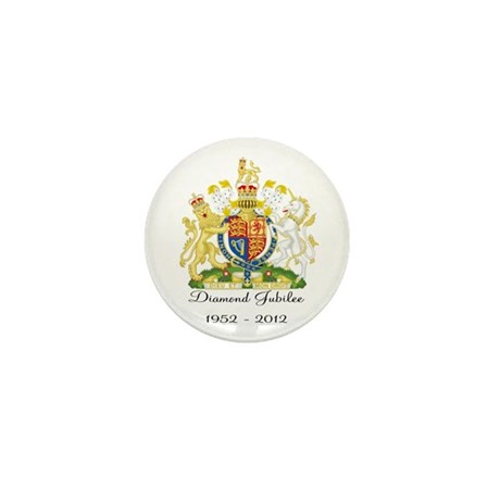 Diamond Jubilee Design Mini Button