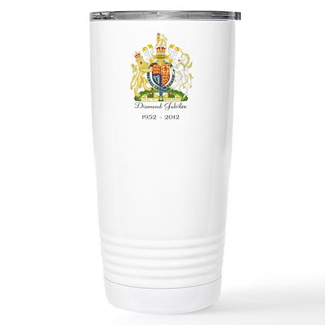 Diamond Jubilee Design Stainless Steel Travel Mug