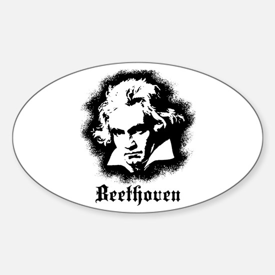 Beethoven Sticker (Oval)