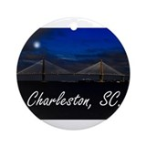 Charleston sc Round Ornaments