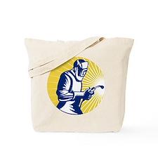 welder welding worker Tote Bag