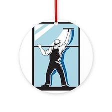 window washer cleaner Ornament (Round)