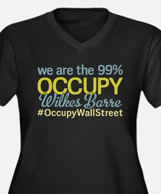 Occupy Wilkes Barre Women's Plus Size V-Neck Dark