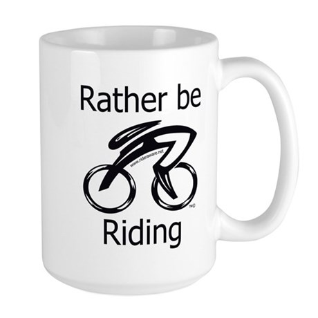 Rather be Riding Large Mug