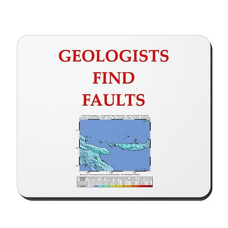 funny geology jokes Mousepad