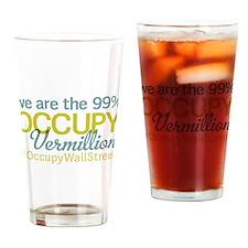 Occupy Vermillion Drinking Glass