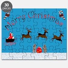 Christmas Raccoon Puzzle