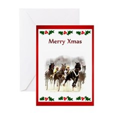 Unique Race horses Greeting Card
