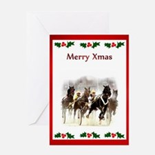 Cute Race horse Greeting Card
