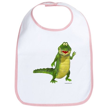 Salty the Crocodile Bib