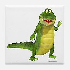 Salty the Crocodile Tile Coaster