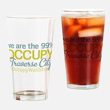 Occupy Traverse City Drinking Glass