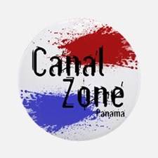 Stylized Panama Canal Zone Ornament (Round)
