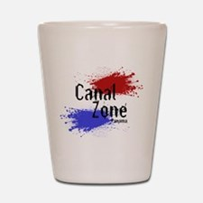Stylized Panama Canal Zone Shot Glass