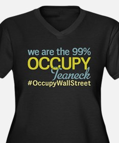 Occupy Teaneck Women's Plus Size V-Neck Dark T-Shi
