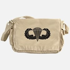 Jump Wings Stencil Messenger Bag