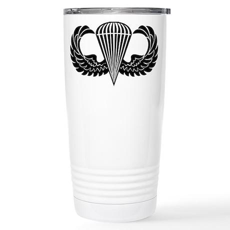 Jump Wings Stencil Stainless Steel Travel Mug