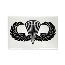 Jump Wings Stencil Rectangle Magnet