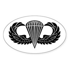 Jump Wings Stencil Decal