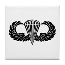 Jump Wings Stencil Tile Coaster