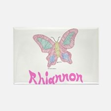 Pink Butterfly Rhiannon Rectangle Magnet