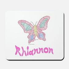 Pink Butterfly Rhiannon Mousepad