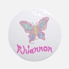 Pink Butterfly Rhiannon Ornament (Round)