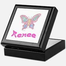 Pink Butterfly Renee Keepsake Box