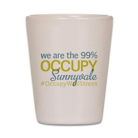 Occupy Sunnyvale Shot Glass