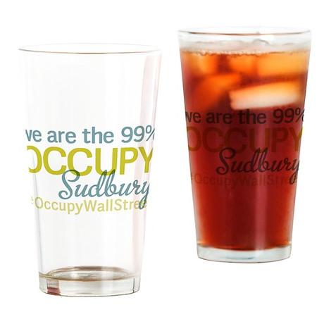 Occupy Sudbury Drinking Glass