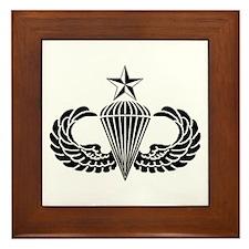 Sr. Parachutist Framed Tile