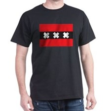 Amsterdam Flag Black T-Shirt